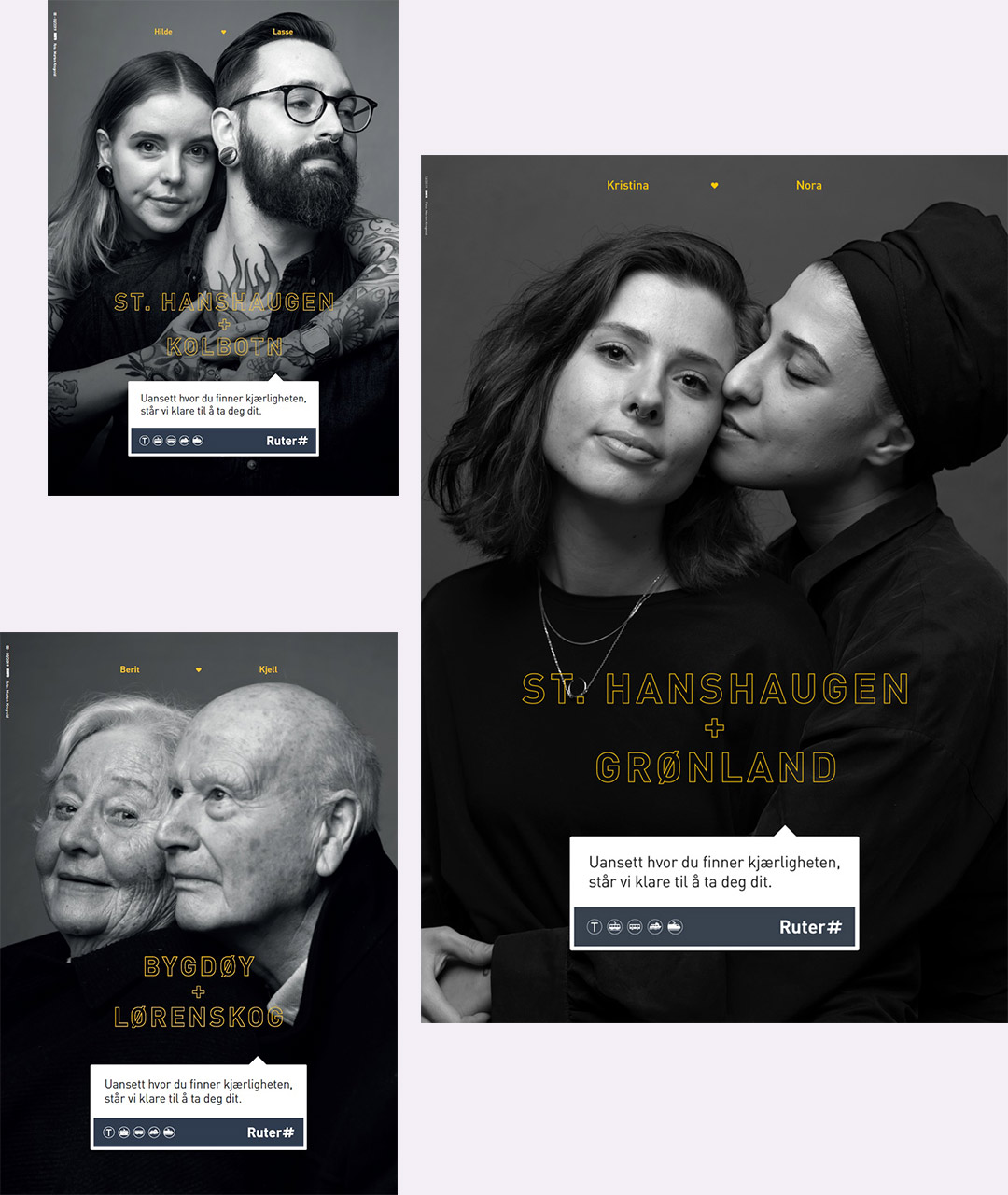 Bilder av Kjærlighetskampanjen