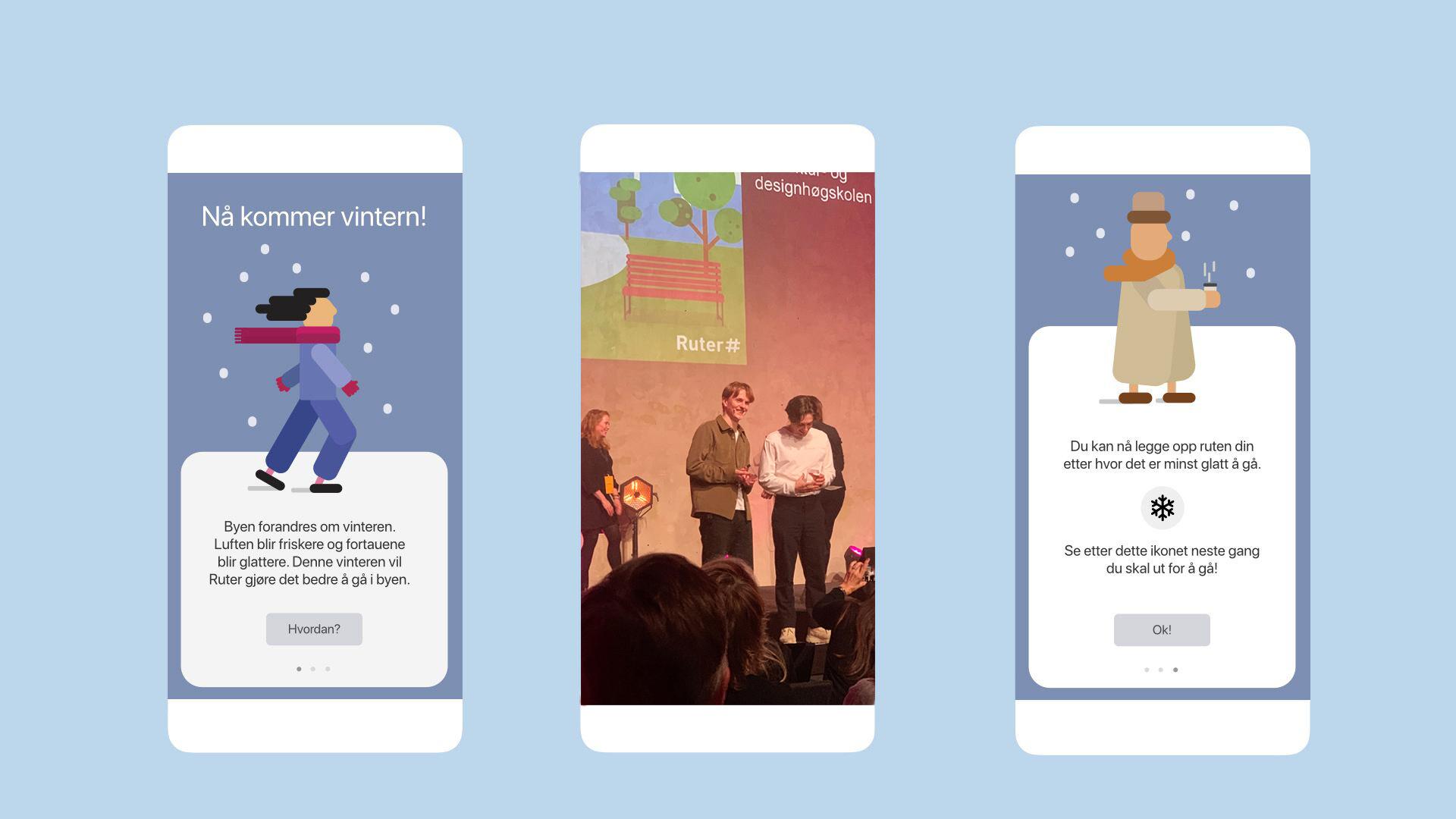 Bilder fra appen Ruter-Gange.