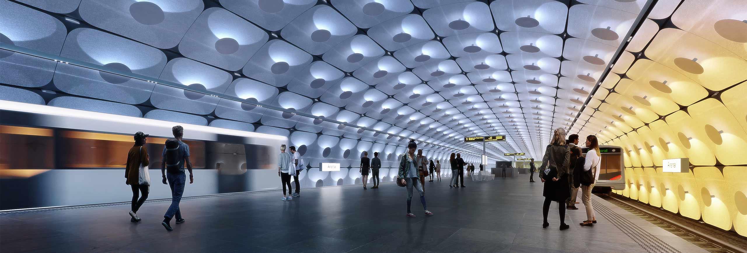 Forslag til nye Fornebuporten stasjon