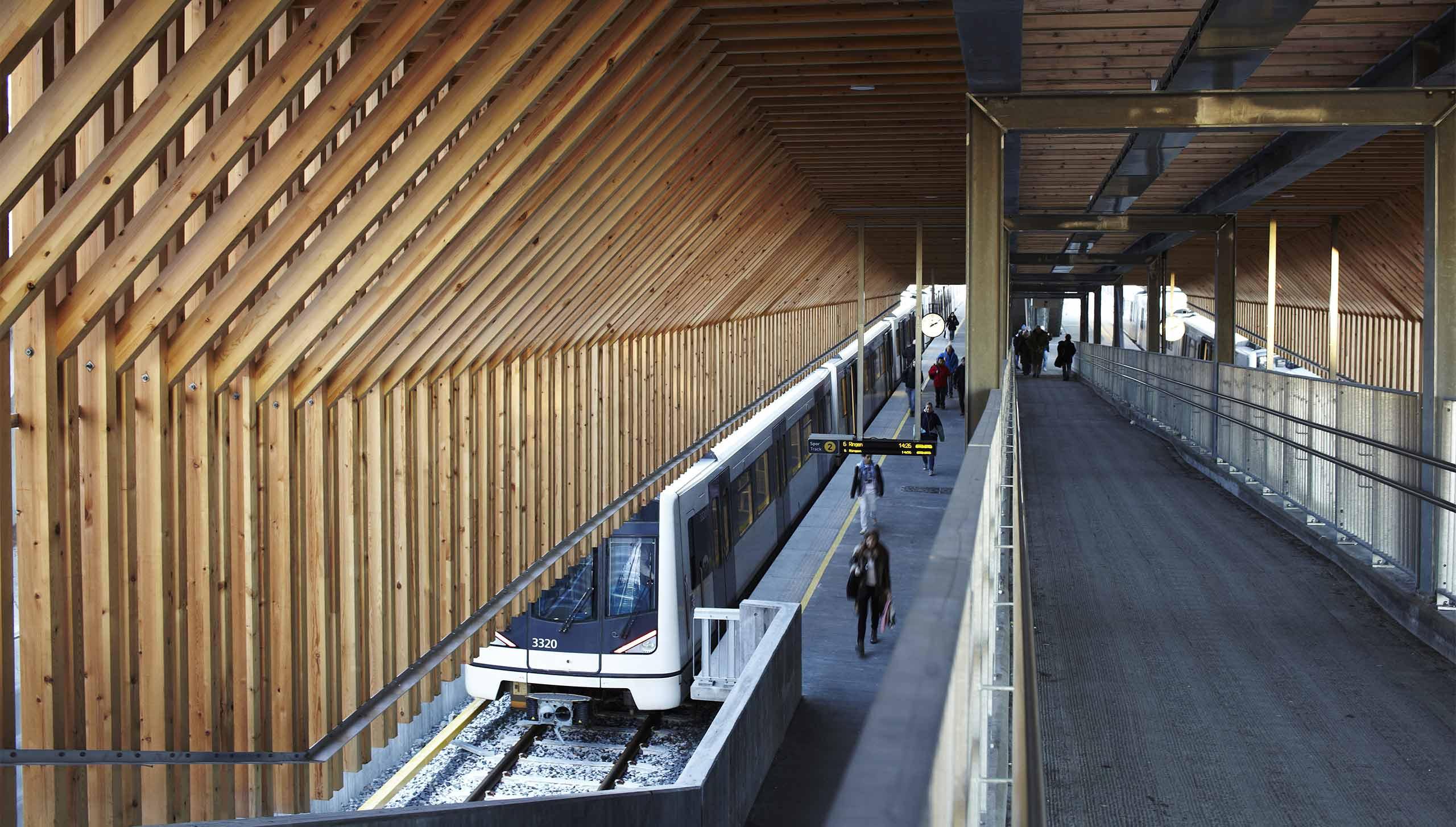 Bilde av holdeplassen på Bekkestua