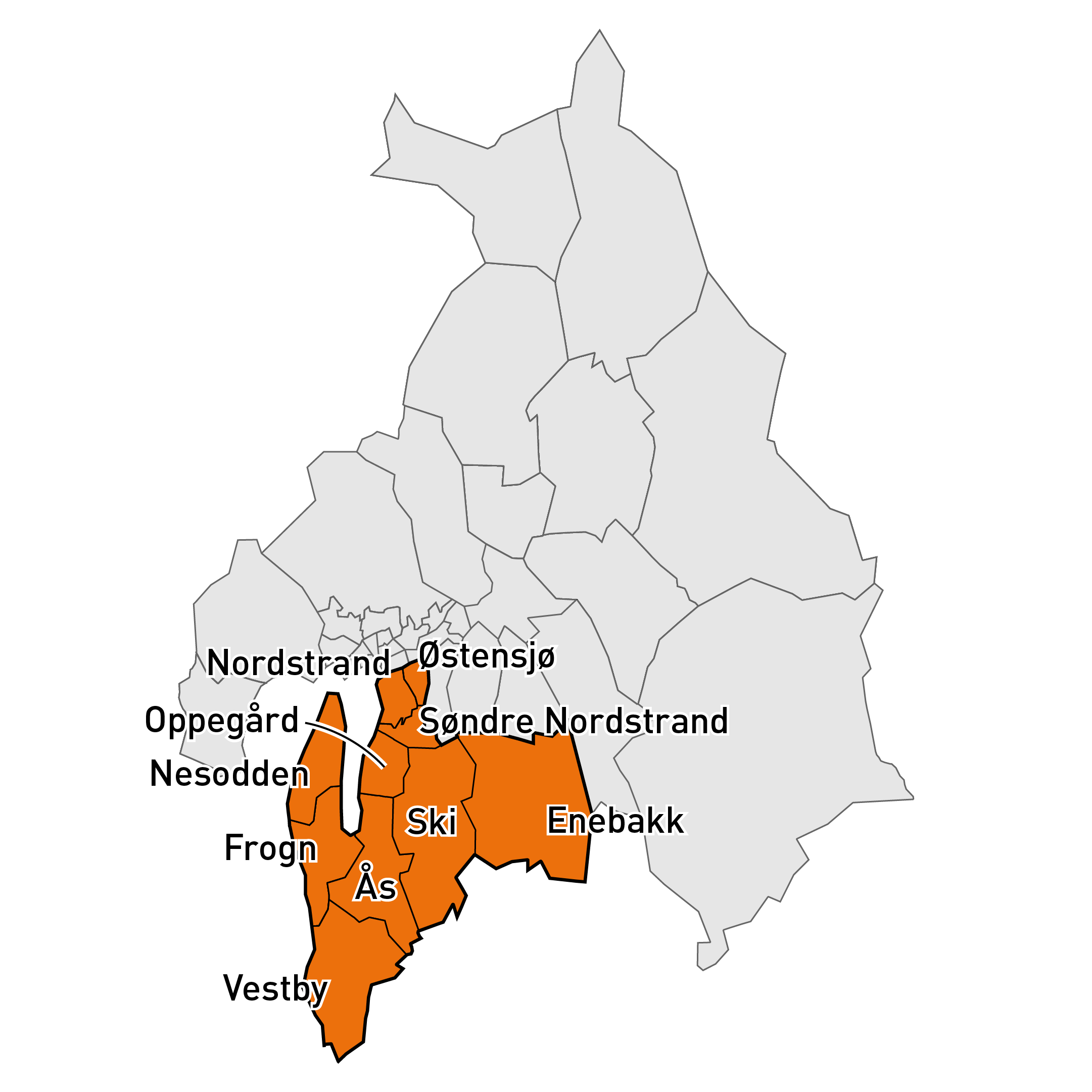 Bilde over markedsområde Sør