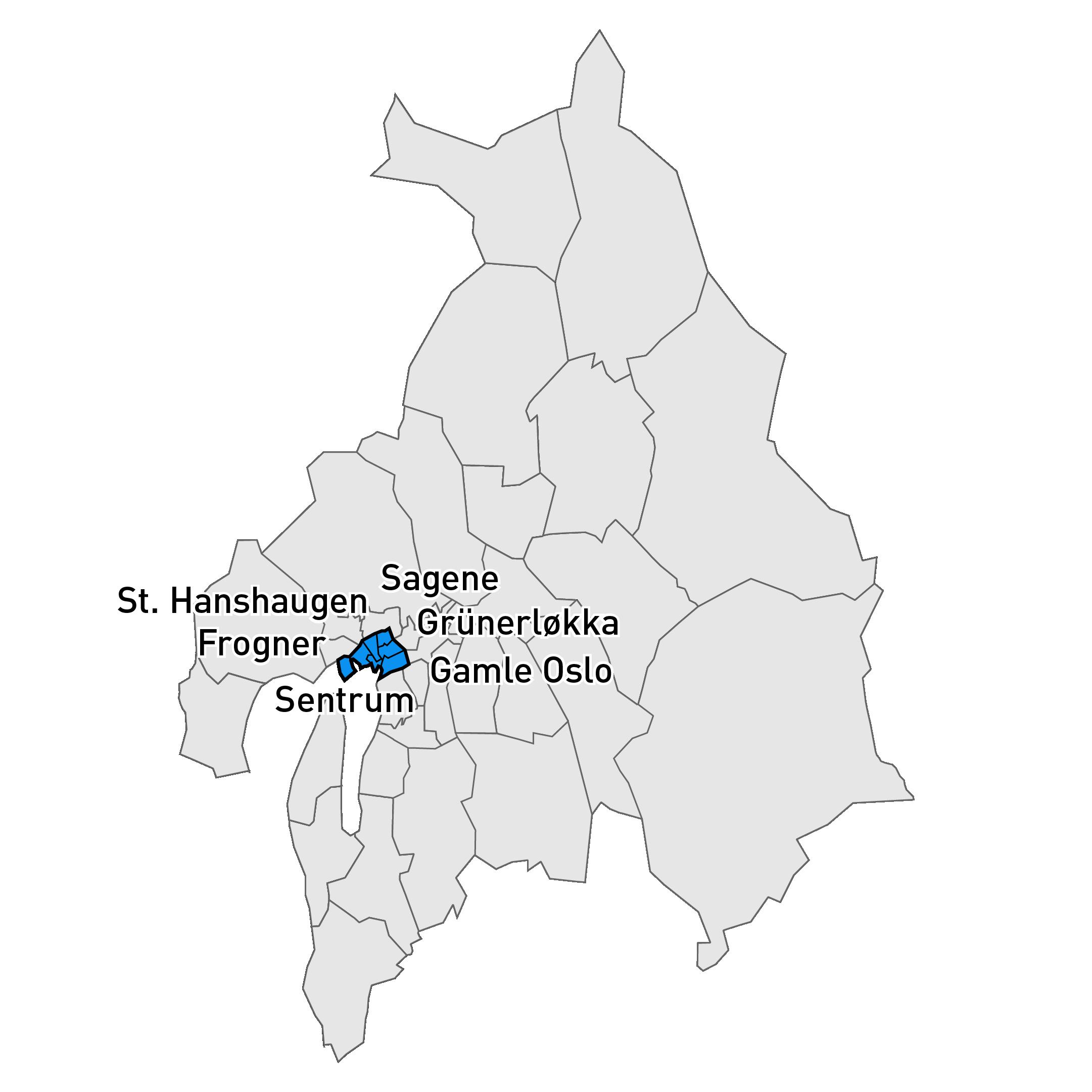 Bilde over markedsområde Indre by