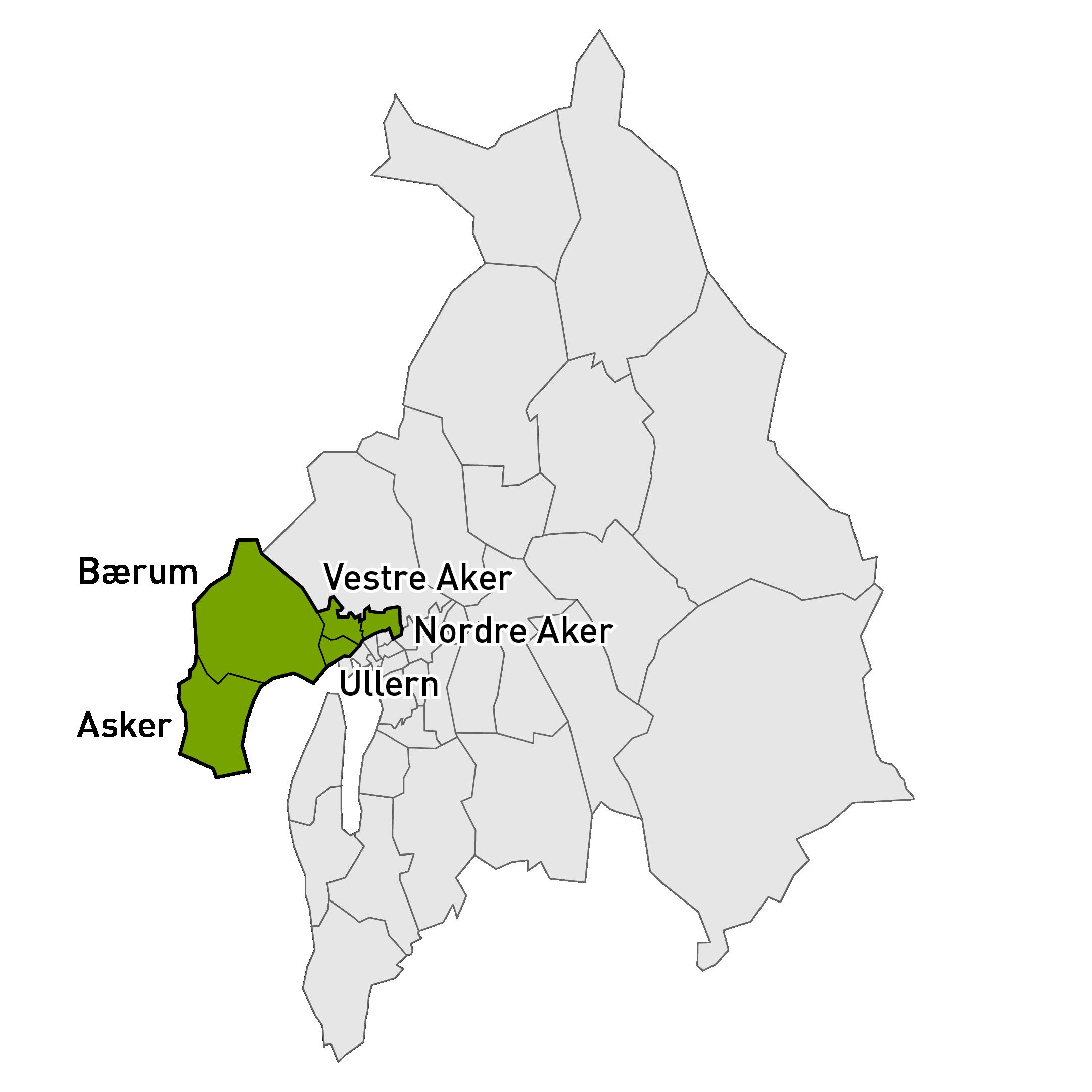 Bilde over markedsområde vest