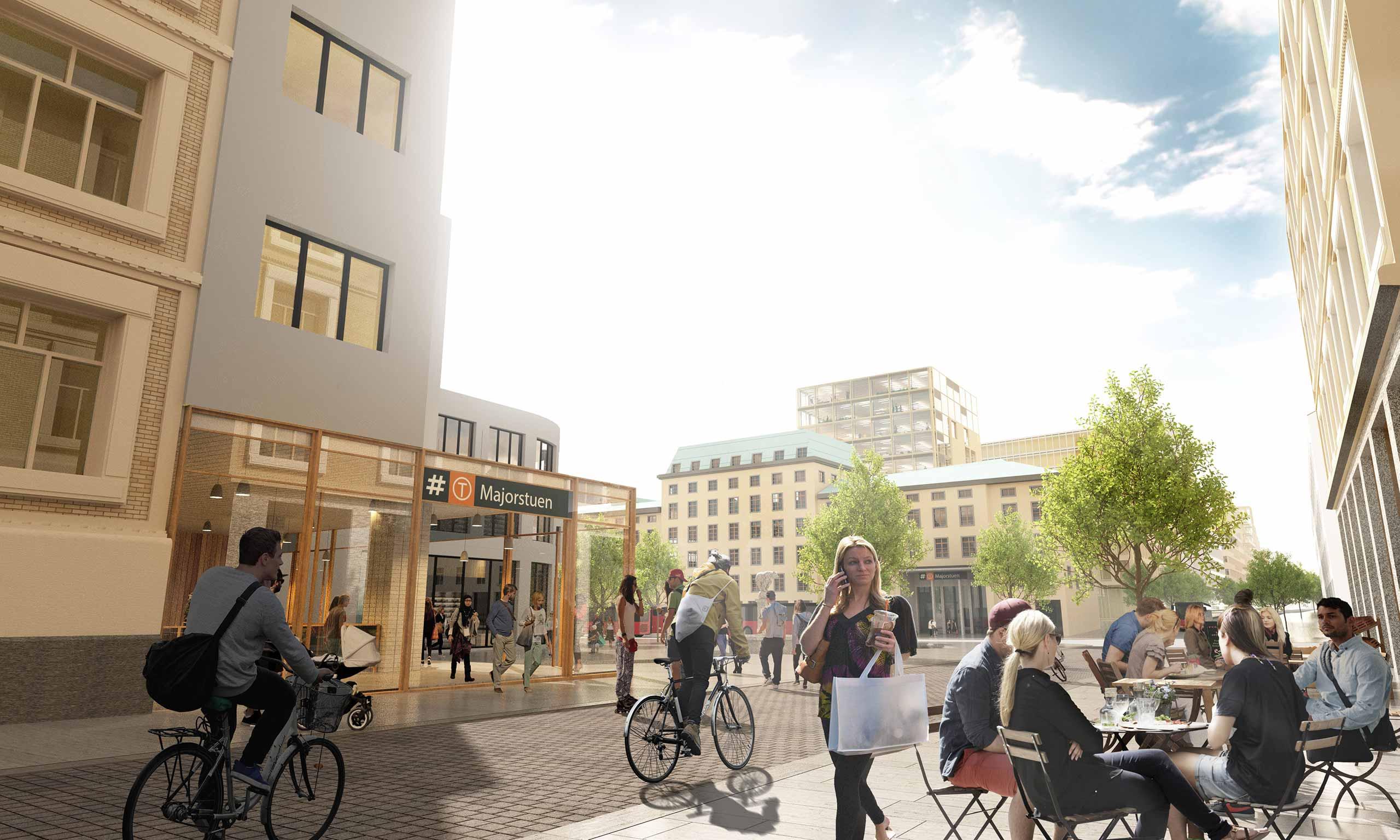 Illustrasjonsbilde av nye Majorstuen stasjon.
