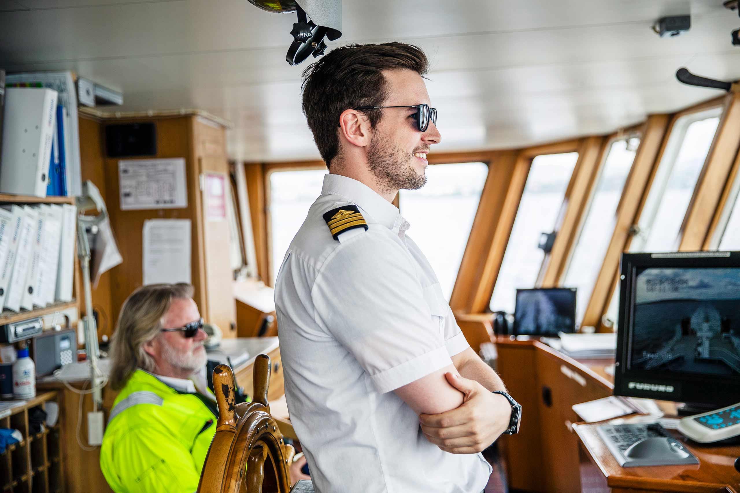 Bilde av kaptein på Ruter båt