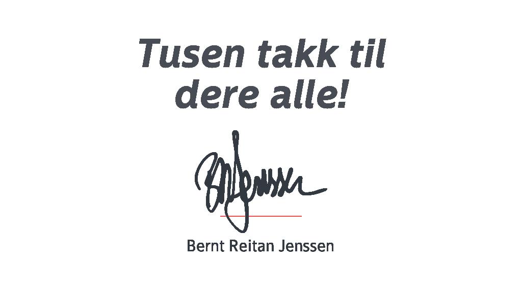 Signaturen til Bernt Reitan Jenssen.