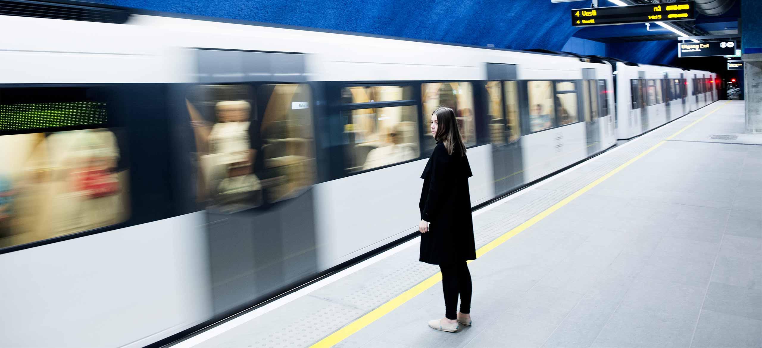 Bilde av t-bane